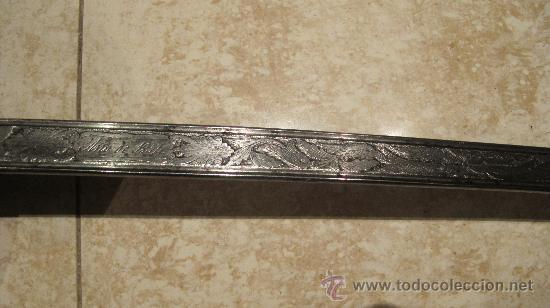 Militaria: SABLE OFICIAL SIN CATALOGAR - ARTILLERIA DE TOLEDO AÑO 1854 - Foto 3 - 34157505