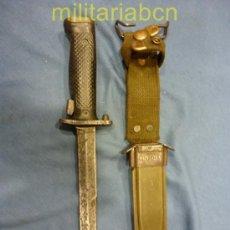 Militaria: ESTADOS UNIDOS DE AMÉRICA. BAYONETA M5, UTILIZADO EN EL RIFLE GARAND, CON VAINA M8A1. MILPAR COL.. Lote 35925162