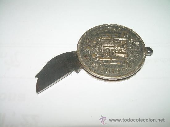 Militaria: ANTIGUA NAVAJA FABRICADA CON UNA MONEDA DE UN DURO DE FRANCO....FABRICANTE...PAYA - IBI (ALICANTE). - Foto 7 - 36141888