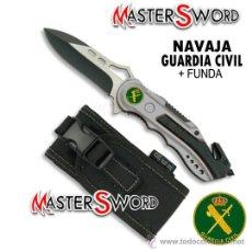 Militaria: NAVAJA GUARDIA CIVIL + ROMPEVIDRIO + CUTTER + FUNDA. 16 CMS ** ESCUDO DE LA GUARDIA CIVIL. Lote 118979491