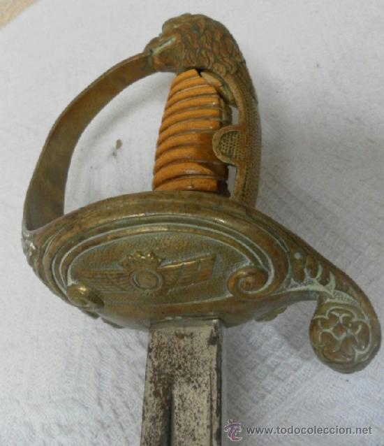ESPADA.SABLE PARA OFICIAL DE AVIACIÓN.ÉPOCA DE FRANCO (Militar - Armas Blancas Originales de Fabricación Posterior a 1945)