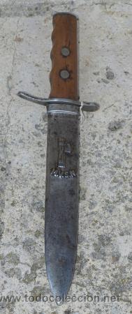 MACHETE, DAGA O PUÑAL Y FUNDA. M.V.S.N. (CAMISAS NEGRAS). C 1930. ITALIA. (Militar - Armas Blancas Originales Fabricadas entre 1851 y 1945)