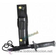Militaria: CUCHILLO COMBATE HOJA SIERRA 17 CMS FUNDA NYLON-PLASTICO 44133 MF13. Lote 38381000