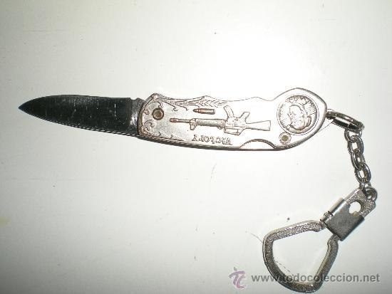 Militaria: preciosa navaja llavero con motibos de guerra en el mango de albacete - Foto 3 - 38595700