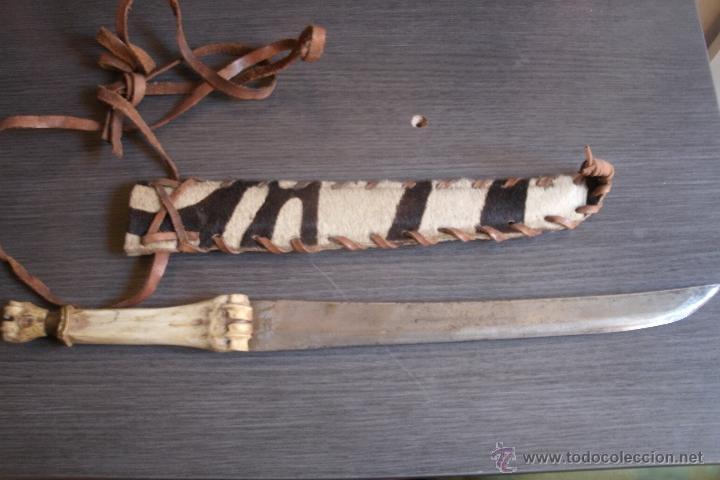 Original Genuino Cuchillo Africano Con Mango De Comprar Armas Blancas Antiguas Originales Posteriores A 1945 En Todocoleccion 39910024