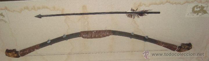 ANTIGUO Y RARO ARCO Y FLECHA (Militar - Armas Blancas, Reproducciones y Piezas Decorativas)