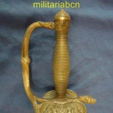 Militaria: ESPADA DE CEÑIR. OFICIAL DE INFANTERÍA. MODELO 1867. MARCADO 1872. EL CENTRO DEL ESCUDO CORRESPONDE. Lote 40350800