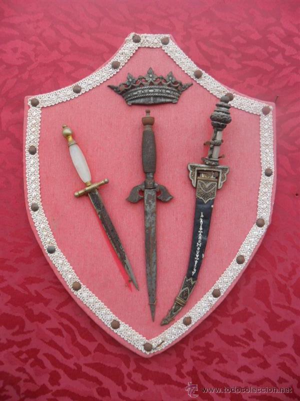 3 PUÑALES PEQUEÑOS (Militar - Armas Blancas, Reproducciones y Piezas Decorativas)
