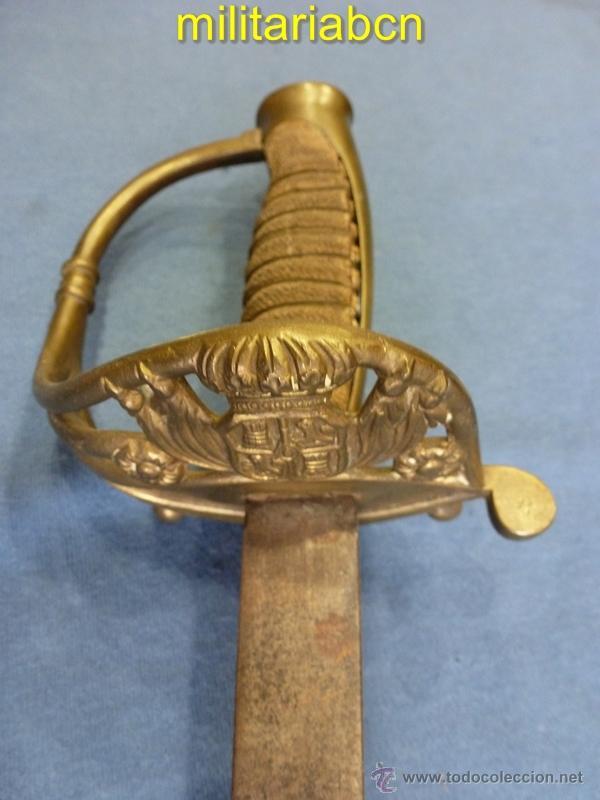 SABLE DE JEFES Y OFICIALES. HACIA 1851. GUARNICIÓN EN LATÓN. (Militar - Armas Blancas Originales Fabricadas entre 1851 y 1945)