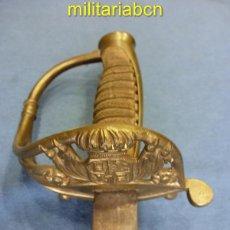Militaria: SABLE DE JEFES Y OFICIALES. HACIA 1851. GUARNICIÓN EN LATÓN.. Lote 41876097