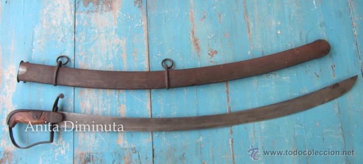 ANTIGUO SABLE DEL EJERCITO BRITÁNICO INGLES DE CABALLERIA LIGERA - MODELO 1796 - ÉPOCA NAPOLEÓNICA (Militar - Armas Blancas Originales de Fabricación Anterior a 1850)