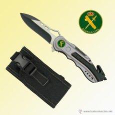 Militaria: NAVAJA TACTICA GUARDIA CIVIL, BICOLOR HOJA 8 CM CUTTER Y ROMPEVIDRIOS. Lote 43911421