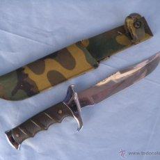 Militaria: CUCHILLO PUÑAL CON FUNDA ALBACETE NAVAJAS. Lote 45863873