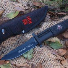 Militaria: CUCHILLO BOTERO ENTERIZO RUI KNIFE ACERO INOX. HOJA 11 CM CAMPING CAZA PESCA. Lote 55867646