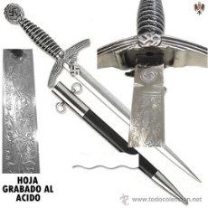 Militaria: CUCHILLO DAGA ALEMANA OFICIAL LUFTWAFFE FUERZA AEREA TERCER REICH. 43 CMS ** HOJA GRABADA. Lote 196774818