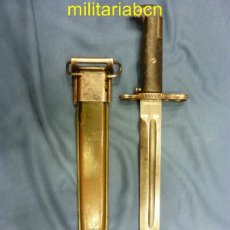 Militaria: ESTADOS UNIDOS. BAYONETA USADA EN EL RIFLE M1 GARAND. 2ª GUERRA MUNDIAL.. Lote 46253127