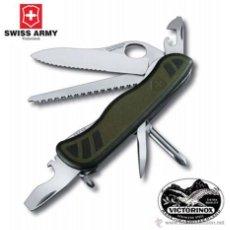 Militaria: NAVAJA SUIZA VICTORINOX 08461.MWCH SOLDIER MULTIUSOS CAMPING CAZA PESCA KNIFE. Lote 47499878