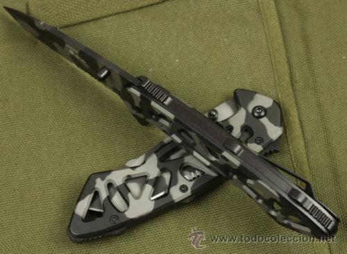 Militaria: NAVAJA MILITAR MODELO TACTICO, Buck desde 1902 , Camuflaje tigre - Foto 3 - 48369843