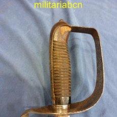 Militaria: ESPADA DE LA ACADEMIA GENERAL MILITAR MODELO 1883, GUARNICIÓN EN ACERO CON MONTERILLA CORRIDA.... Lote 49106388