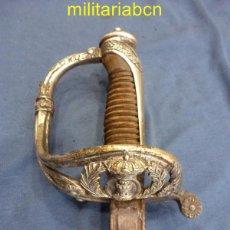 Militaria: SABLE DE INGENIEROS MODELO 1860. GUARNICIÓN EN ALPACA.. Lote 49106619