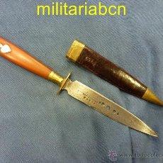 Militaria: PEQUEÑO CUCHILLO FABRICADO POR COSTE BARCELONA, FINALES DEL SIGLO XIX O PRINCIPIOS DEL XX. 200 MM.. Lote 50289905
