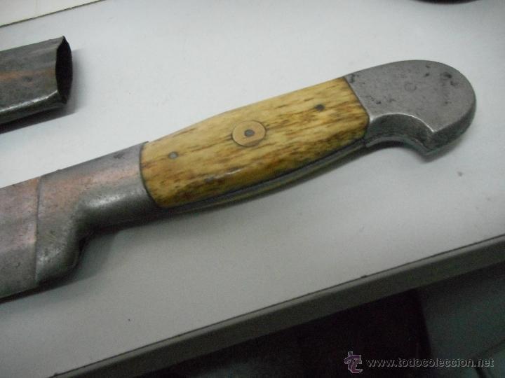 Militaria: dificil bayoneta cuchillo machete con marcaje 8girodias - Foto 3 - 50532055