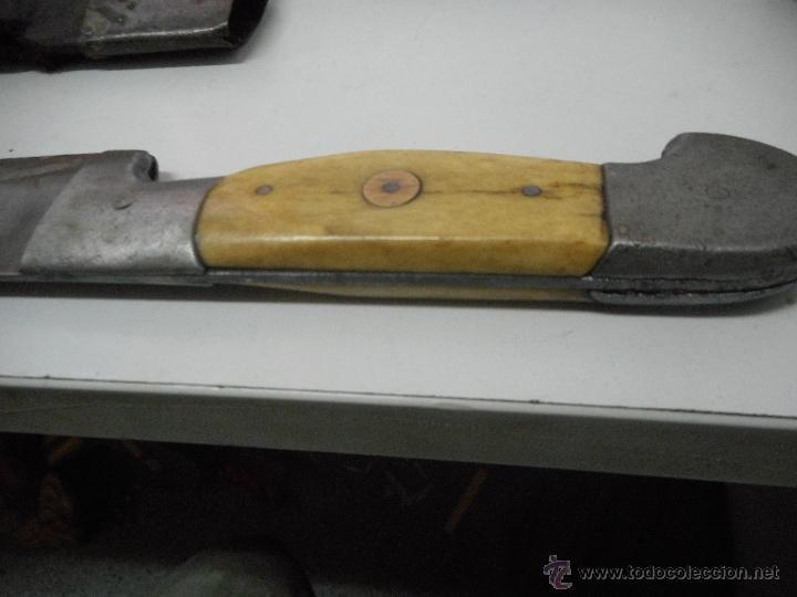Militaria: dificil bayoneta cuchillo machete con marcaje 8girodias - Foto 14 - 50532055