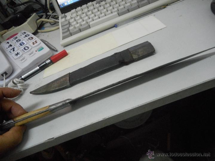Militaria: dificil bayoneta cuchillo machete con marcaje 8girodias - Foto 15 - 50532055