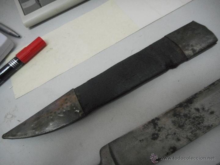 Militaria: dificil bayoneta cuchillo machete con marcaje 8girodias - Foto 16 - 50532055