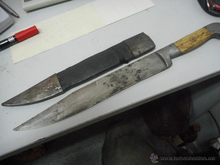 Militaria: dificil bayoneta cuchillo machete con marcaje 8girodias - Foto 21 - 50532055