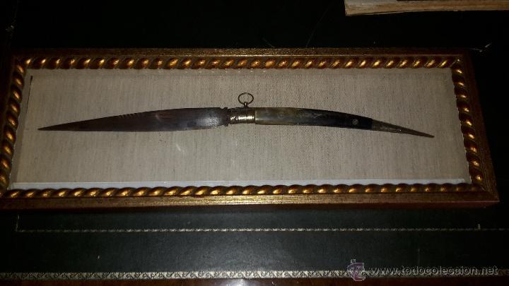 GRAN NAVAJA SIGLO XIX. (Militar - Armas Blancas Originales Fabricadas entre 1851 y 1945)