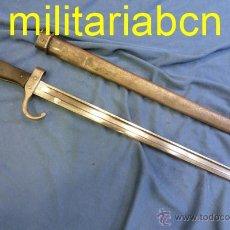 Militaria: FRANCIA. BAYONETA FRANCESA MODELO 1892. USADA EN EL MANNLICHER-BERTHIER SHORT RIFLE.. Lote 52687277