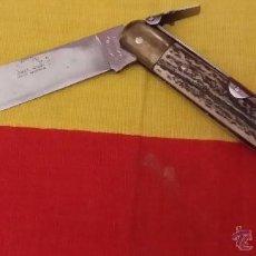 Militaria: NAVAJA MARCA JJ MARTINEZ, SANTA CRUZ DE MUDELA, LONGITUD TOTAL 23.50 CNTS. Lote 53021856