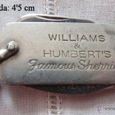 Militaria: NAVAJA PUBLICITARIA ANTIGUA BODEGAS WILLIAMS HUMBERT JEREZ. Lote 53069084