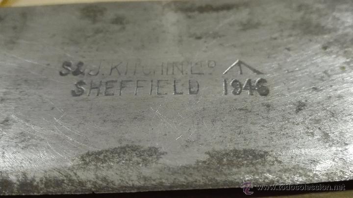 Militaria: MACHETE S J. KITCHIN.LTD SHEFFIELD 1946 - Foto 3 - 53170788