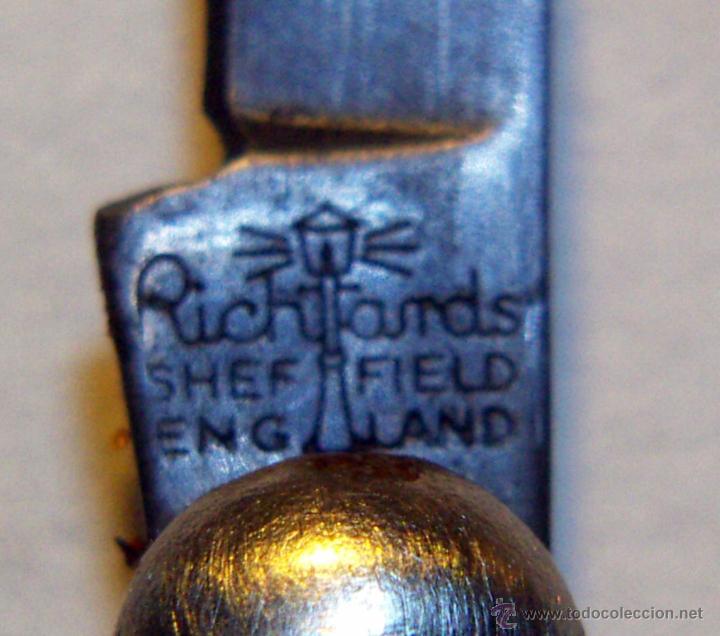 Militaria: Navaja de Tatanware escocés vintage firmado Richards Sheffield Inglaterra - Foto 4 - 53616044
