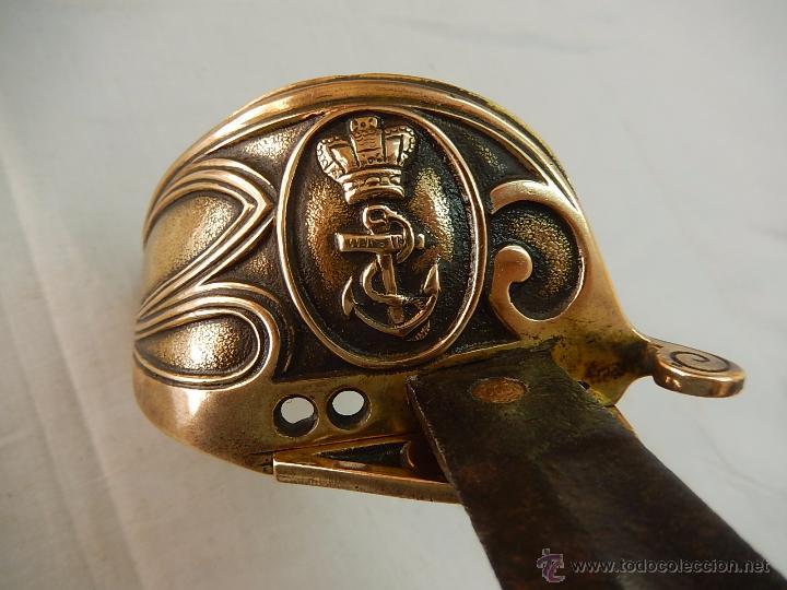 SABLE. INGLÉS, MARINA DE GUERRA. (Militar - Armas Blancas Originales Fabricadas entre 1851 y 1945)