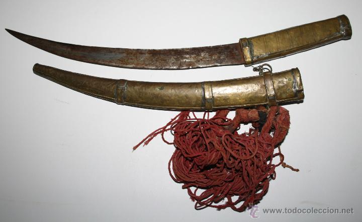 DAGA ARABE. REALIZADA ACERO Y LATÓN. SIGLO XIX. (Militar - Armas Blancas Originales Fabricadas entre 1851 y 1945)