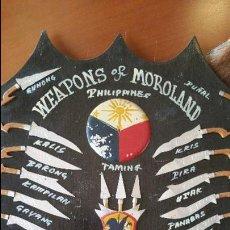 Militaria: PANOPLIA CUADRO ARMAS FILIPINAS ESPADA DAGA. Lote 54815221