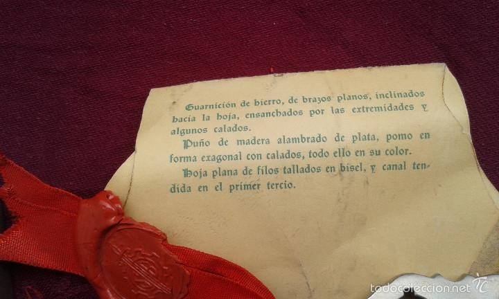Militaria: ESPADA DEL SIGLO XIII,EMPRESA NACIONAL SANTA BÁRBARA DE INDUSTRIAS MILITARES,S.A.,FÁBRICA DE TOLEDO - Foto 2 - 55826431