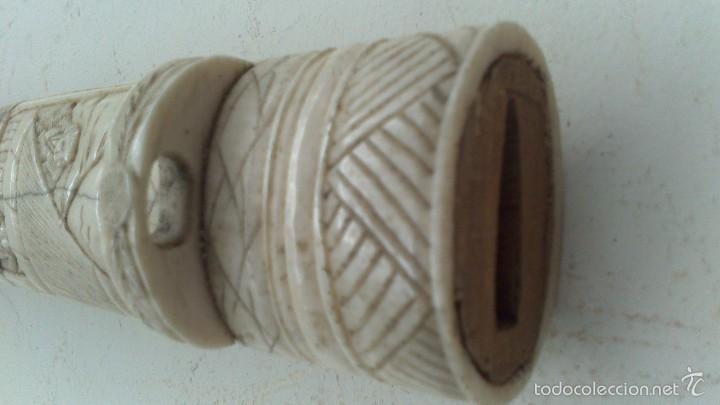 Militaria: antigua y pequeña katana , tanto , daga japonesa marfil , hueso ?¿ tallada - Foto 14 - 56871314