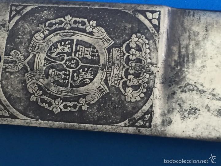 HOJA SABLE ROBERT MODELO1895 INSTITUTOS MONTADOS AL ACEROCARBONO, PULIDA AL ESPEJO FABRICA TOLEDO (Militar - Armas Blancas Originales Fabricadas entre 1851 y 1945)