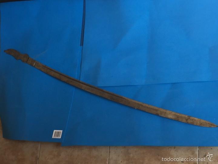 Militaria: hoja sable Robert Modelo1895 Institutos montados al acerocarbono, pulida al espejo fabrica toledo - Foto 2 - 56876441