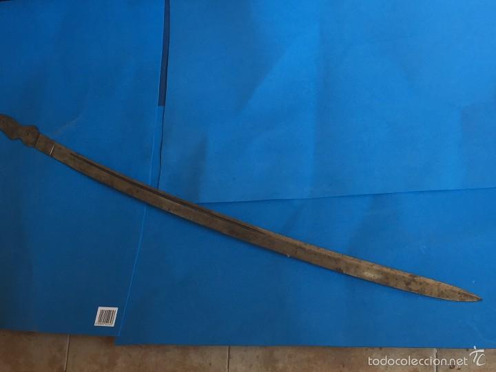 Militaria: hoja sable Robert Modelo1895 Institutos montados al acerocarbono, pulida al espejo fabrica toledo - Foto 6 - 56876441