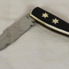 Militaria: NA-008. NAVAJA EN ACERO INOXIDABLE. ALBACETE. ESPAÑA. MANGO EN VINILO. CIRCA 1970.. Lote 57379636