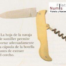Militaria: Nº 17 - NAVAJA ESTILO SUMILLER - HOJA DE ACERO. Lote 61662624