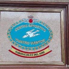 Militaria: CUADRO- METOPA EN CERÁMICA CENTRO DEPORTIVO CUATROVIENTOS. AIRE. Lote 64368975