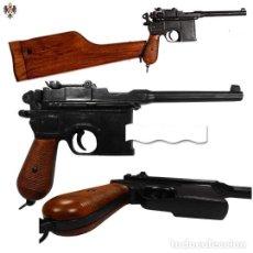 Militaria: PISTOLA MAUSER ALEMANA C96 CALIBRE 7/63 + CULATA MADERA. 60 CMS. Lote 75519735