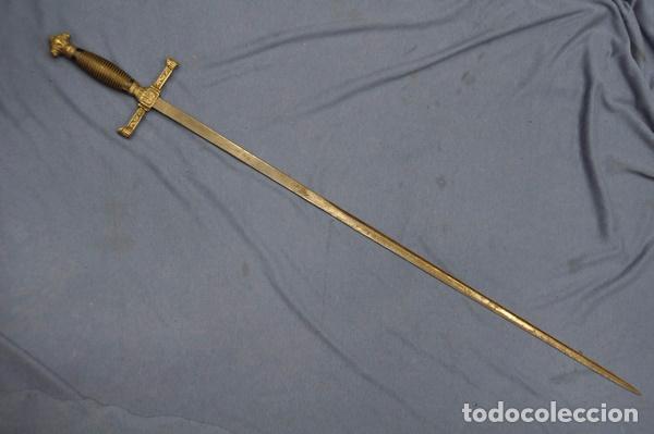 Militaria: Espadín o Espada de Ceñir de Oficial de Caballería. Modelo 1887. Hoja marcada Toledo. - Foto 3 - 80735506