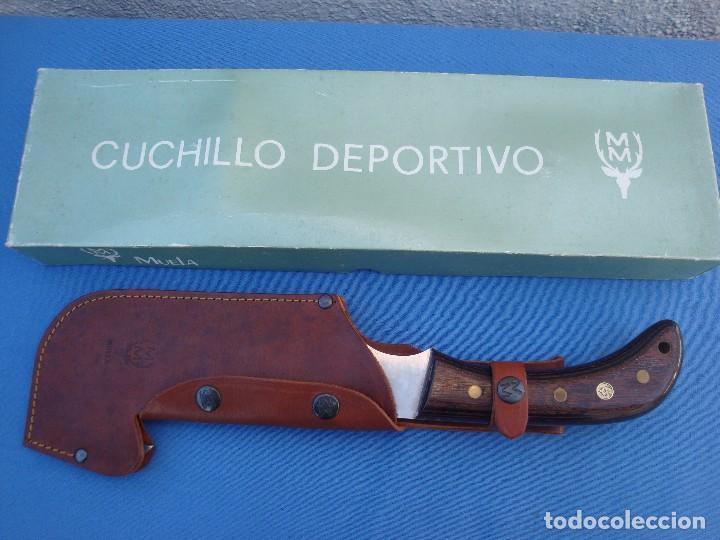 Militaria: CUCHILLO DE CAZA MUELA MODELO HACHETA -DESCATALOGADO. - Foto 3 - 83039104